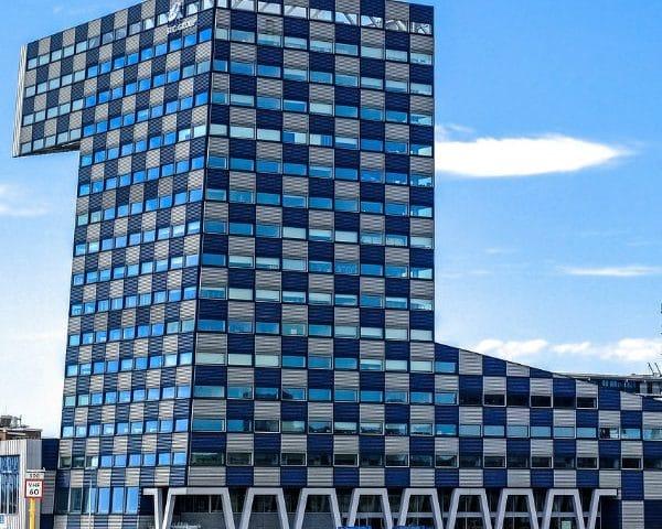 Modern gebouw ter illustratie voor proeftuin circulair bouwen