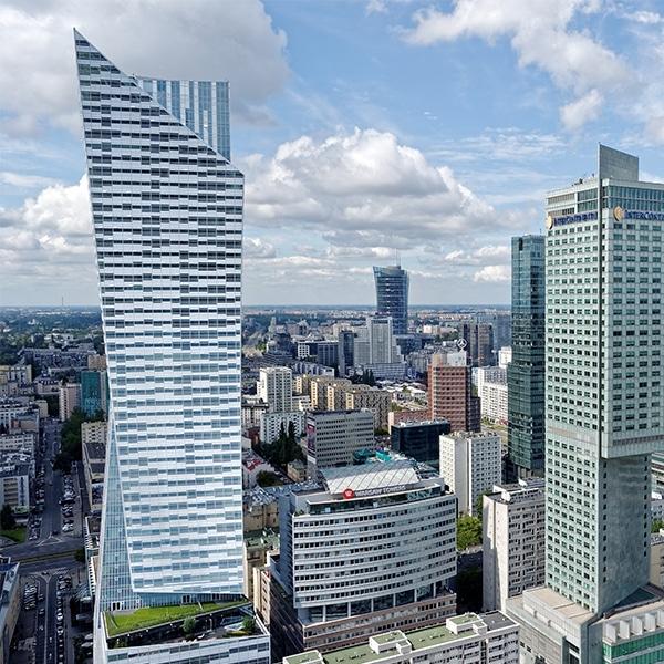 stad met architectuur