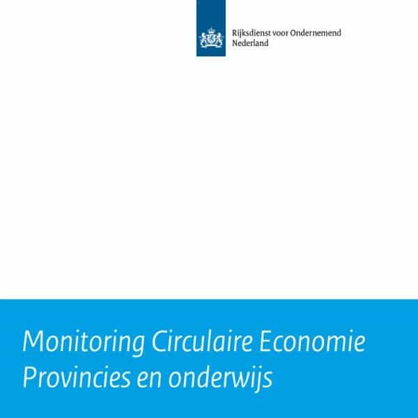 Monitoring Circulaire Economie Provincies en onderwijs