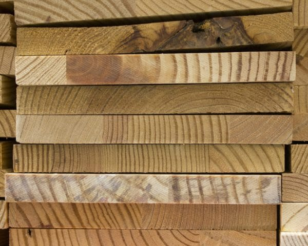 Daling houtprijs